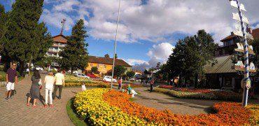 Praça das Flores em Nova Petrópolis