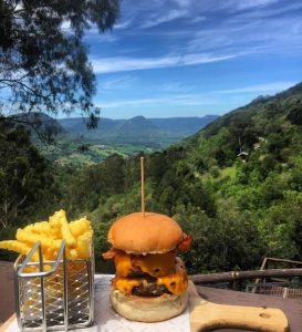 Vista do Augusta, no Alpen Park. O restaurante também é um ótimo lugar para ir com crianças