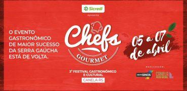 3ª edição do Chefs Gourmet chega novamente a Canela