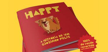 A história do Happy, cachorrinho do Empório Canela, virou livro!